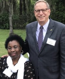 Dr. Bert Flanegan and Dr. Mavis Agbandje-McKenna